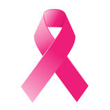 Awareness ribon. Breast cancer awareness ribbon in a white background Stock Photos