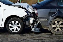 Awaryjny samochód po trzaska obraz stock