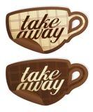 Away etiketter för Take. Fotografering för Bildbyråer