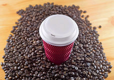 away kaffetakes Arkivbild