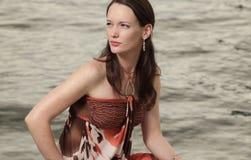 away kasta en blick kvinna Fotografering för Bildbyråer