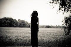 away seende långt kvinna Royaltyfri Fotografi