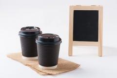 away take för kaffekopp Arkivfoto