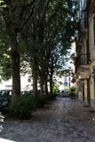 Away with trees and houses #2. Salsomaggiore Italy Stock Photos