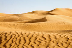 awbari沙丘利比亚沙子 图库摄影