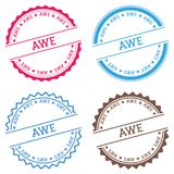 AWE badge isolated on white background. Flat style round label with text. Circular emblem vector illustration Royalty Free Stock Image