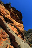 Awe inspiring red cliffs along the National Pass - Australia Royalty Free Stock Photos