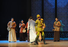 Awe inspiring righteousness-The third act of dance drama-Shawan events of the past Stock Image