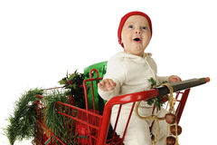 Awed by Christmas Stock Photo