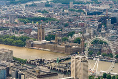 Awesome aerial skyline of London, UK Royalty Free Stock Images