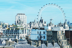 Awesome aerial skyline of London, UK Royalty Free Stock Photos