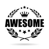 Awesome award vector icon Royalty Free Stock Image