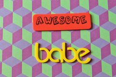 Awesome babe font Stock Images