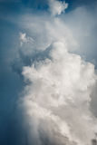 Awesome Background with Stormy Clouds Stock Image