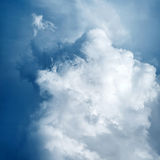 Awesome Background with Stormy Clouds Stock Photo