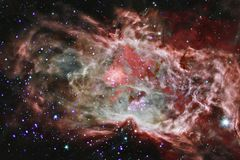 Awesome beautiful nebula somewhere in outer space royalty free stock images
