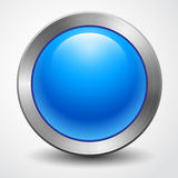 Awesome big blue button isolated Stock Photos