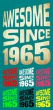 Awesome Since 1965. Birthday logos. 7 png files. Royalty Free Stock Image