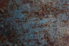 Awesome blue metal and rust royalty free stock photo