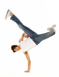 Awesome breakdancing moves Royalty Free Stock Images