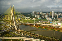 Octavio Frias de Oliveira bridge Stock Photography