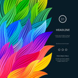 Awesome Bright Colorful Borders vector illustration