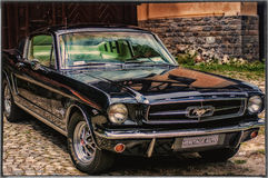The power of Ford Mustang Stock Photo