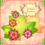 Awesome card for Day of Teacher in style of scrapbooking Royalty Free Stock Photos