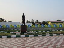 Awesome close view martyr statue at RK beach road, visakhapatnam. This snap is taken from kailashgiri park, a indian park looking awesome of flower garden Stock Photography