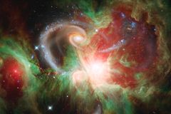 Awesome colorful nebula somewhere in endless universe royalty free stock image