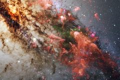 Awesome colorful nebula somewhere in endless universe. Elements of this image furnished by NASA.  royalty free stock photos