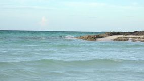 Awesome Cuban tropical beach where to spend a Caribbean vacations stock video footage