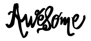 Awesome Cute Lettering royalty free illustration