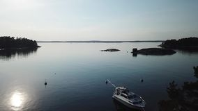 Awesome day in archipelago by drones poin of view the gulf of Finland stock footage