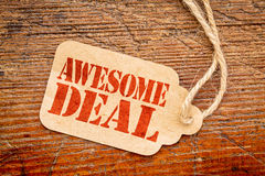 Awesome deal sign - price tag Stock Image