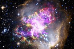 Awesome of deep space. Billions of galaxies in the universe stock images