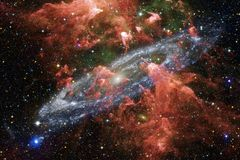 Awesome of deep space. Billions of galaxies in the universe. Elements of this image furnished by NASA royalty free stock images