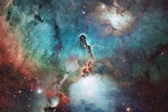 Awesome of deep space. Billions of galaxies in the universe. Elements of this image furnished by NASA stock image