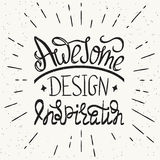 Awesome design inspiration handwritten design Royalty Free Stock Image