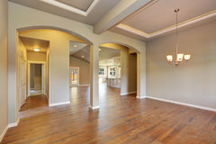 Awesome entrance hall of brand new house. Stock Image