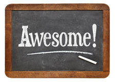 Awesome exclamation on blackboard Royalty Free Stock Images