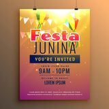 Awesome festa junina celebration carnival season flyer design Stock Photography
