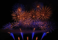 Awesome fireworks. Colorful fireworks on the night sky Royalty Free Stock Photos