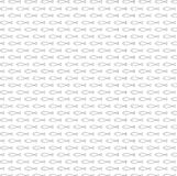 Awesome fish seamless pattern vector. Fish seamless pattern vector. Black and white outline boundless background stock illustration
