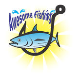 Awesome fishing Royalty Free Stock Images