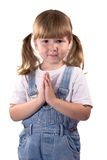 Awesome girl praying for... Stock Image