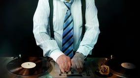 Awesome grandpa DJ stock footage