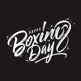 Awesome Happy boxing day typography vector stock illustration