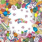 Awesome Happy Easter card in vector Royalty Free Stock Images