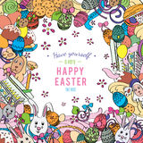 Awesome Happy Easter card in vector Royalty Free Stock Photos